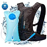 Hydration Backpack for Running Walking Hiking Biking Cycling Skiing - 50 OZ / 1.5L Pack Water Bladder - Lightweight Running Gear - For Women Men Kids - Perfect Outdoor Camping Gear - Hydration Vest