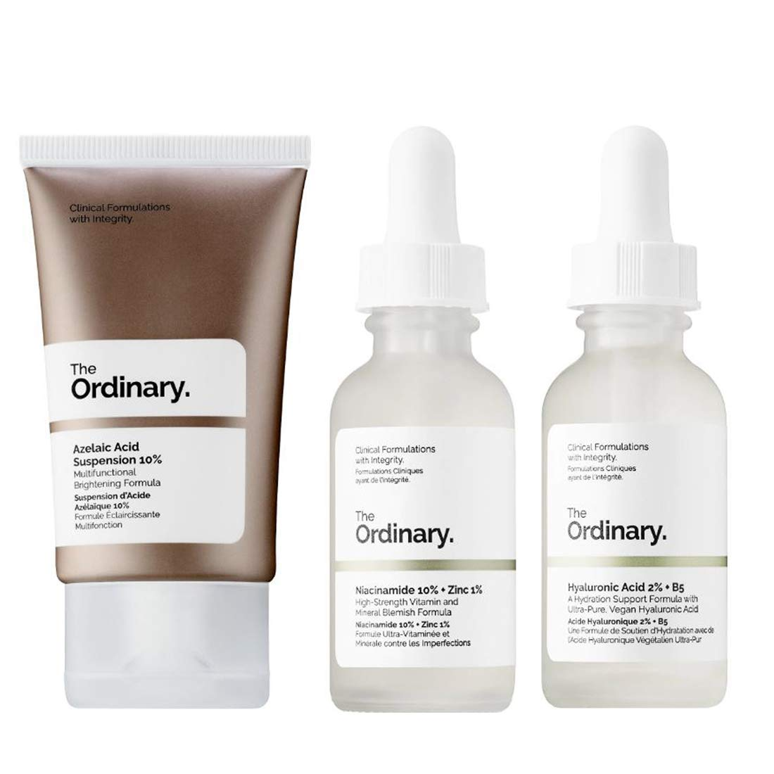The Ordinary Facial Skincare Set! Azelaic Acid Suspension With Brightening Formula! Niacinamide Serum Reduces Skin Blemishes! Hyaluronic Acid Hydrating Face Serum! Vegan, Paraben Free & Cruelty Free!