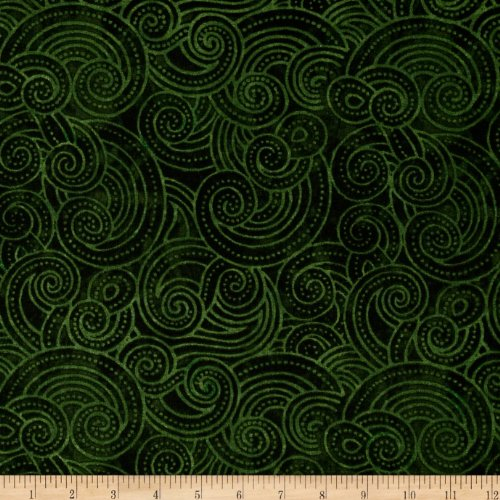 - Wilmington Prints Essential Dotty Waves 108in Wide Quilt Back Fabric by the Yard, Dark Green