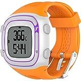 Bracelet Garmin Forerunner 10 15 de remplacement pour montre de sport, caoutchouc de silicone + boucle en métal, pour homme et femme