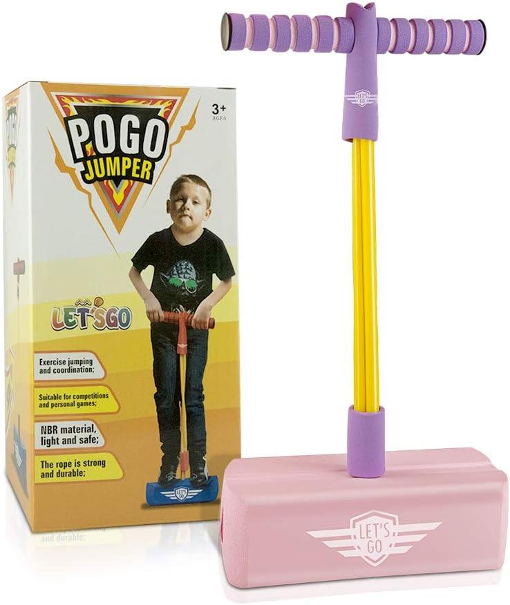 Wiki Schaum Pogo Stick Jumper f/ür Kinder