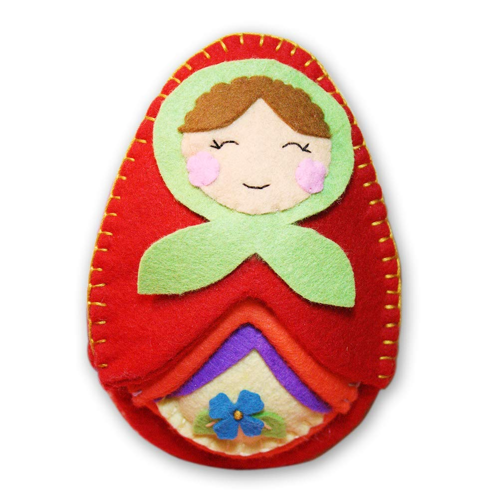 Heidi Boyd | Nesting Matryoshka Dolls | Whimsy Kits | Enjoy Creating Clever Nesting Matryoshka Dolls with This All Inclusive Felt Craft Sewing Kit Age 13+