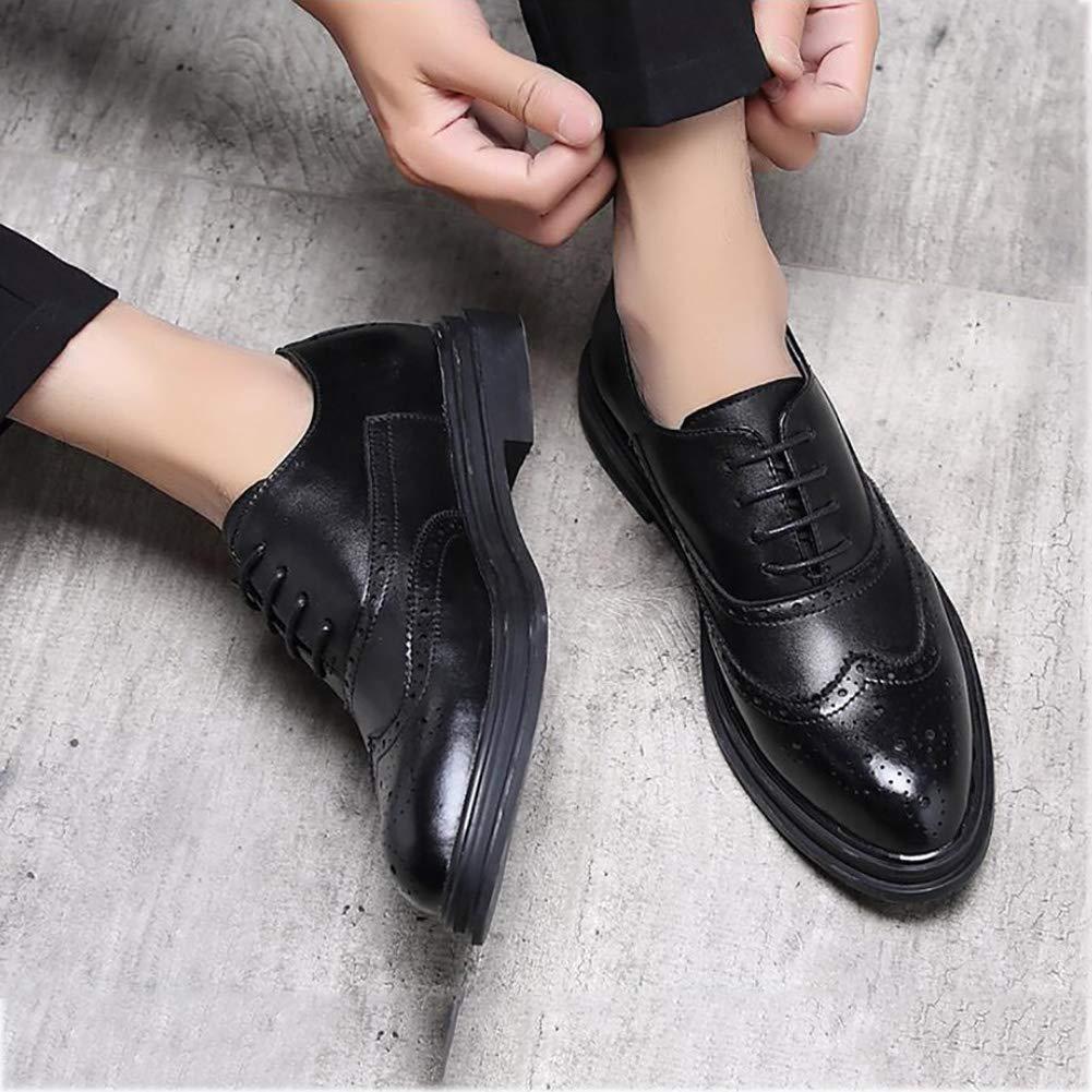 Yaxuan Business-Schuhe, Herrenschuhe, Frühlings Schuhe, Herren-Formale Business-Schuhe, Yaxuan Mode-Spitzen-Zehenschuhe, Hochzeits-Casual-Party,schwarz,42 - fd96f1