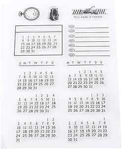 Sello de Silicona Transparente Sello Claro para Scrapbooking Álbum de Resorte Calendario Decorativo para Navidad Sello de Decoración: Amazon.es: Hogar