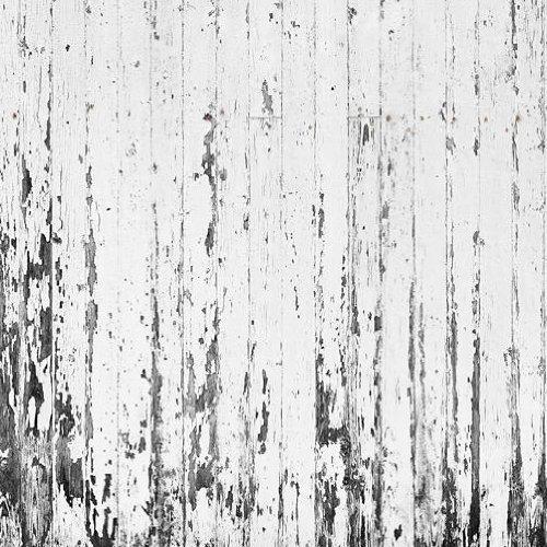 E021901 8 Foto Tapete Vlies Wandbild Bretter Holzwand Weiß Gestrichen  Shabby Chic: Amazon.de: Baumarkt