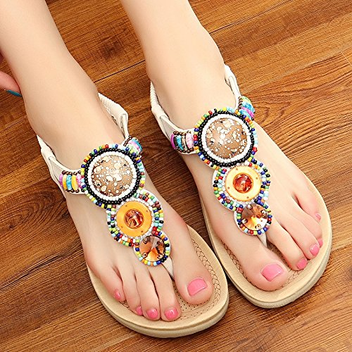 39 White yalanshop Anti Bottom Slippers Sand Cool Slip Sandals Thick Cool Slippers Soft T7qwTPrxd