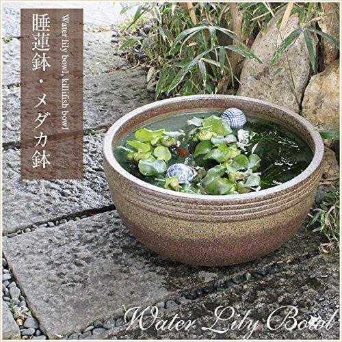 信楽焼 13号窯肌ボール型すいれん鉢 睡蓮鉢 スイレン鉢 金魚鉢 水鉢 陶器 su-0082 B01N9J6VWD