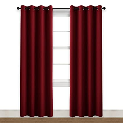 Charming NICETOWN Burgundy Curtains Blackout Window Drapes   (Burgundy Red Color)  52u0026quot; By 84u0026quot