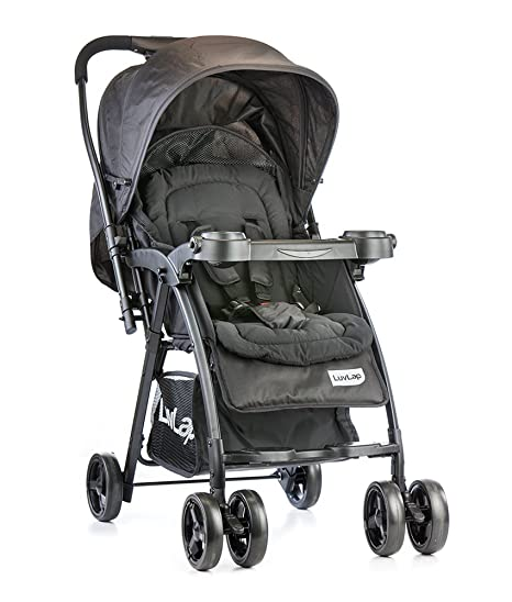 484cdc48d8c Buy Luvlap Joy Baby Stroller (Black) Online at Low Prices in India -  Amazon.in