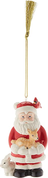 Lenox 2018 Woodland Santa Ornament