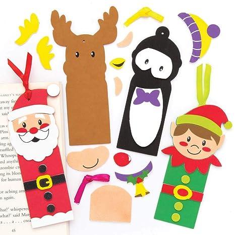 Lavoretti Di Natale 7 Anni.Baker Ross Kit Per Segnalibri Natalizi Pacco Da 5 Lavoretti