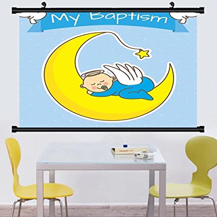Amazon.com: Gzhihine Wall Scroll Baptism Decorations Wall Hanging My ...