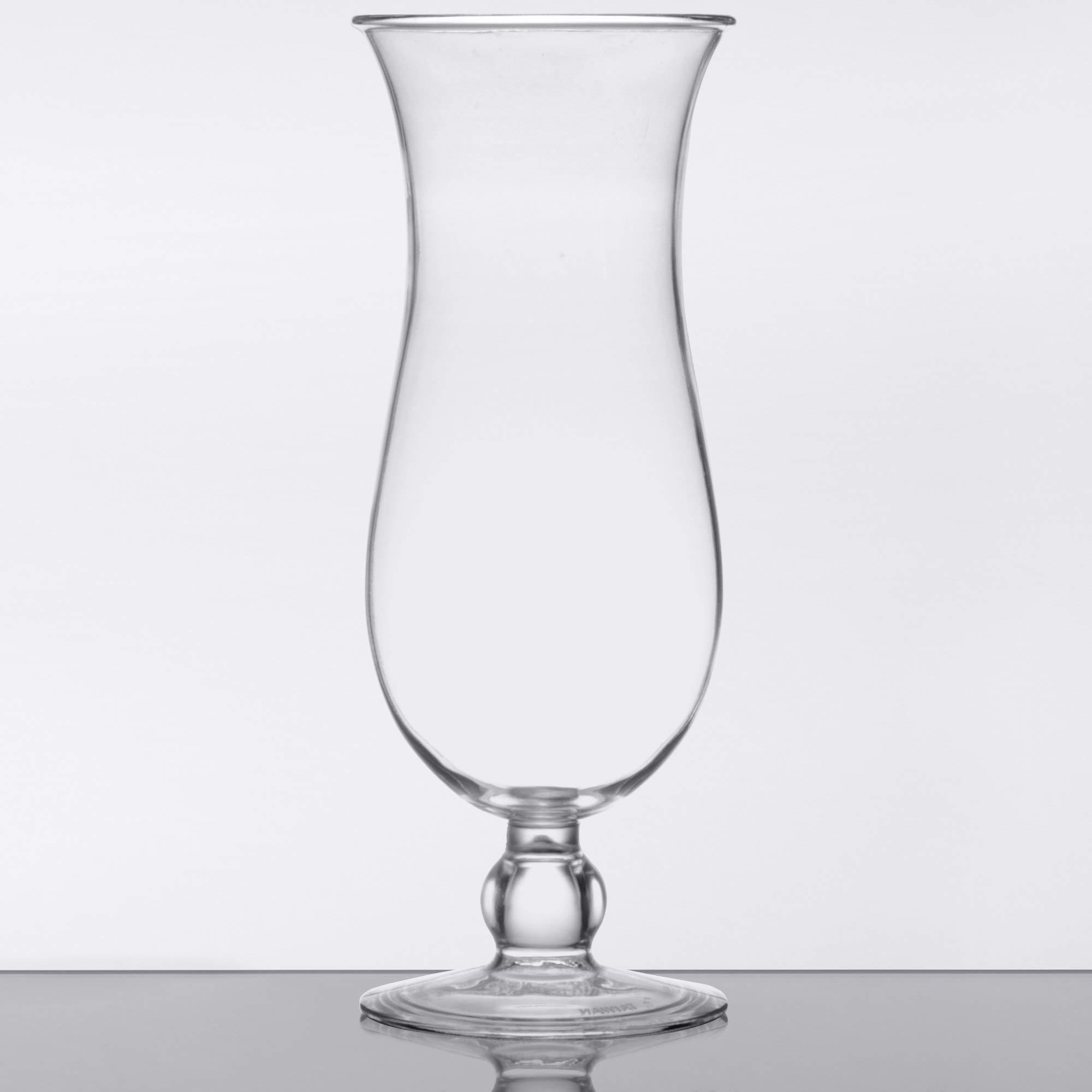 15 oz. Clear Plastic Hurricane Glasses, Break Resistant, Dishwasher Safe, Reusable, GET HUR-1-CL (Qty, 12) by Unknown