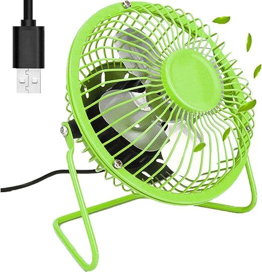 KAISHANE Ventilador de Escritorio con USB Mini Ventilador de ...