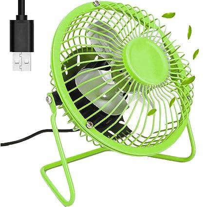 KAISHAN Ventilador de escritorio con USB Mini Ventilador de sobremesa de refrigeración 4 pulgadas Cuchillas de