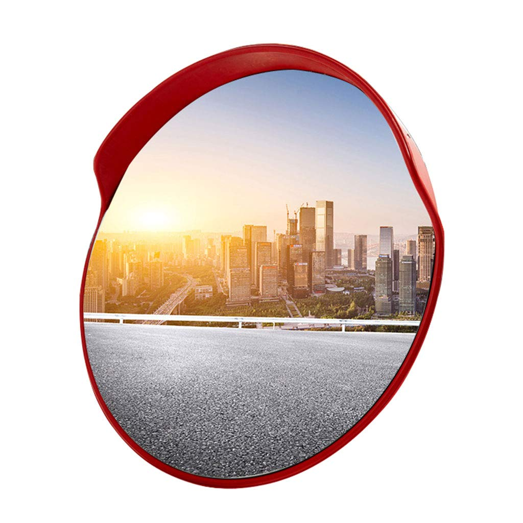 GXFC Convex Traffic Mirror, for Outdoor Narrow Roads, Street Corners and Driveways Safety or Buildings Blind Spots, Circular Pole Mount w/Adjustable Bracket