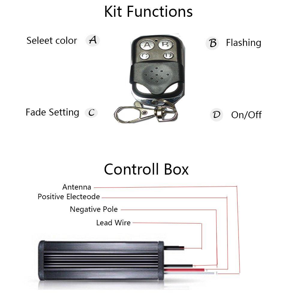 10pc led motorcycle light kit