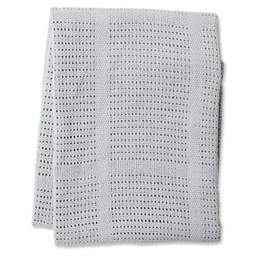 lulujo Baby Cellular Blanket Grey