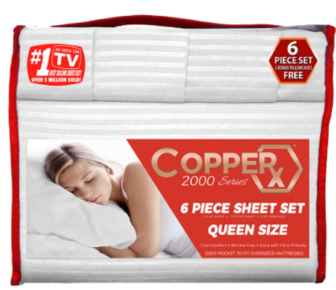 Copper X 6 Piece Sheet Set Queen White 2000 Series