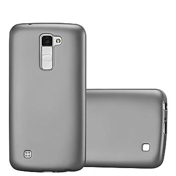 Cadorabo Funda para LG K10 2016 en Metallic Gris – Cubierta Proteccíon de Silicona TPU Delgada e Flexible con Antichoque – Gel Case Cover Carcasa ...