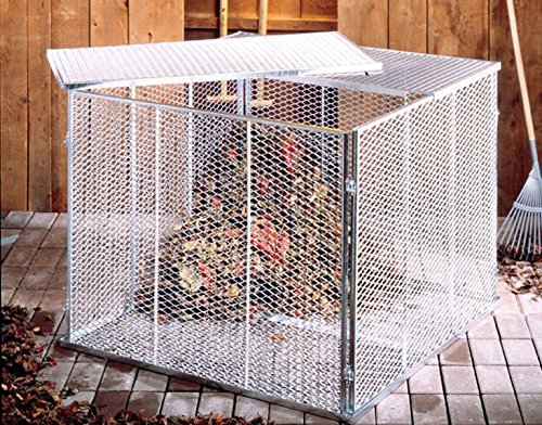 Kompostsilo Metall 80x80cm / 100x100cm inkl. Deckel und Boden,feuerverzinkt, (L x B x H: 80 x 80 x 70 cm)