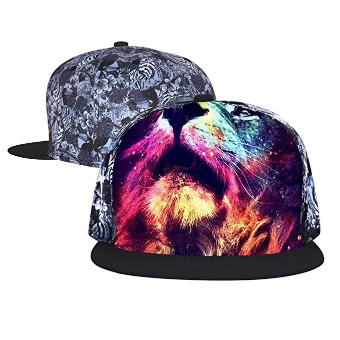 43bd599c5ebe7 WWINL Roaring Lion Unisex Snapback Adjustable Flat Bill Baseball Cap Hip  Hop Hats Dad Hat Black