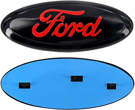 Blue 9inch F150 Front Grille Tailgate Emblem Oval 9x3.5 Blue Decal Badge Nameplate Emblem Fit for Ford 2004-2014 F150