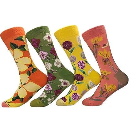 Zhou Yunshan Calcetines de algodón Jacquard de Dibujos Animados de algodón para Damas de otoño e