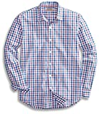 Goodthreads Men's Standard-Fit Long-Sleeve Checked Shirt, Purple/Blue, Medium