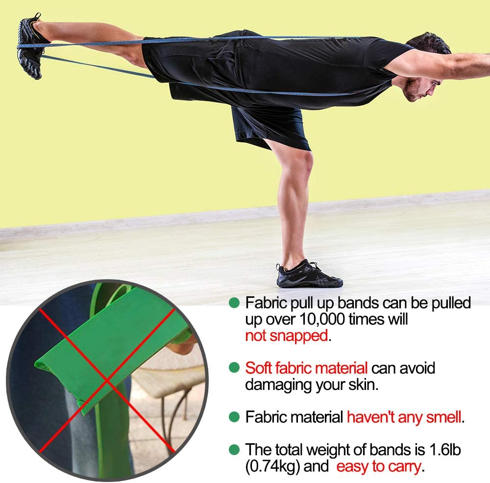 Long Resistance Bands Set Fabric Pull Up Assistance Exercise Bands Thick