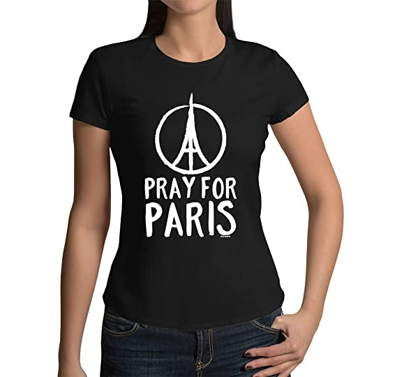 amazon com junior s pray for paris t shirt clothing