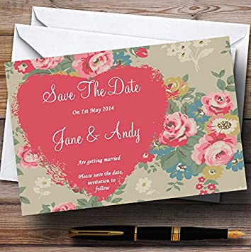 vintage shabby chic inspired office. Shabby Chic Inspired Vintage Personalized Wedding Save The Date Cards Office I