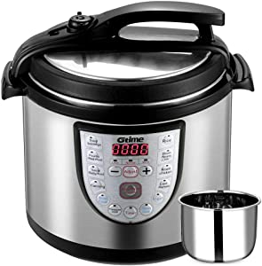 Electric Pressure Cooker Slow Cook 8 Qt Programmable 18 Kinds of Cooking Option with Stainless Steel Inner Pot,Sous Vide,Rice Cooker,Egg Cooker,Hot Pot,Baking,Cake,Steamer,Yogurt,Scouring Pad,24-Hour