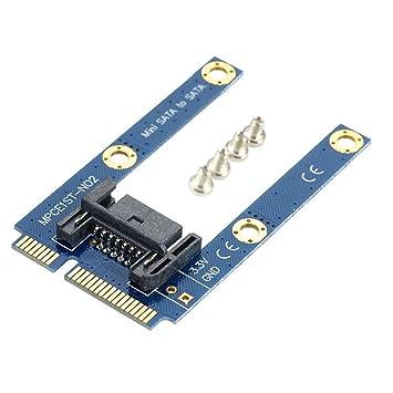 HUANGYUNCHAO Tarjeta ATA Mini PCI-E mSATA SSD a SATA Tarjeta ...