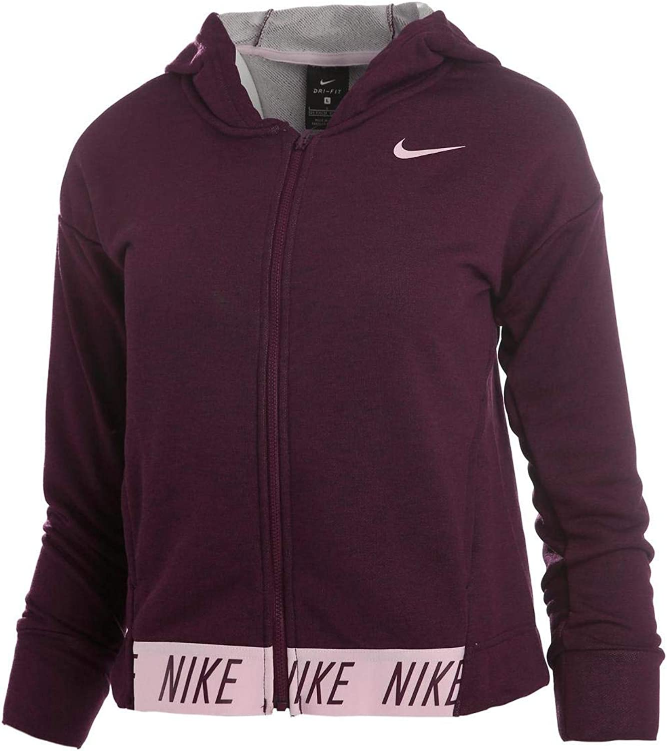 Nike Girls Swoosh Thermal Hoodie Pullover Lilac Purple Size Youth Medium