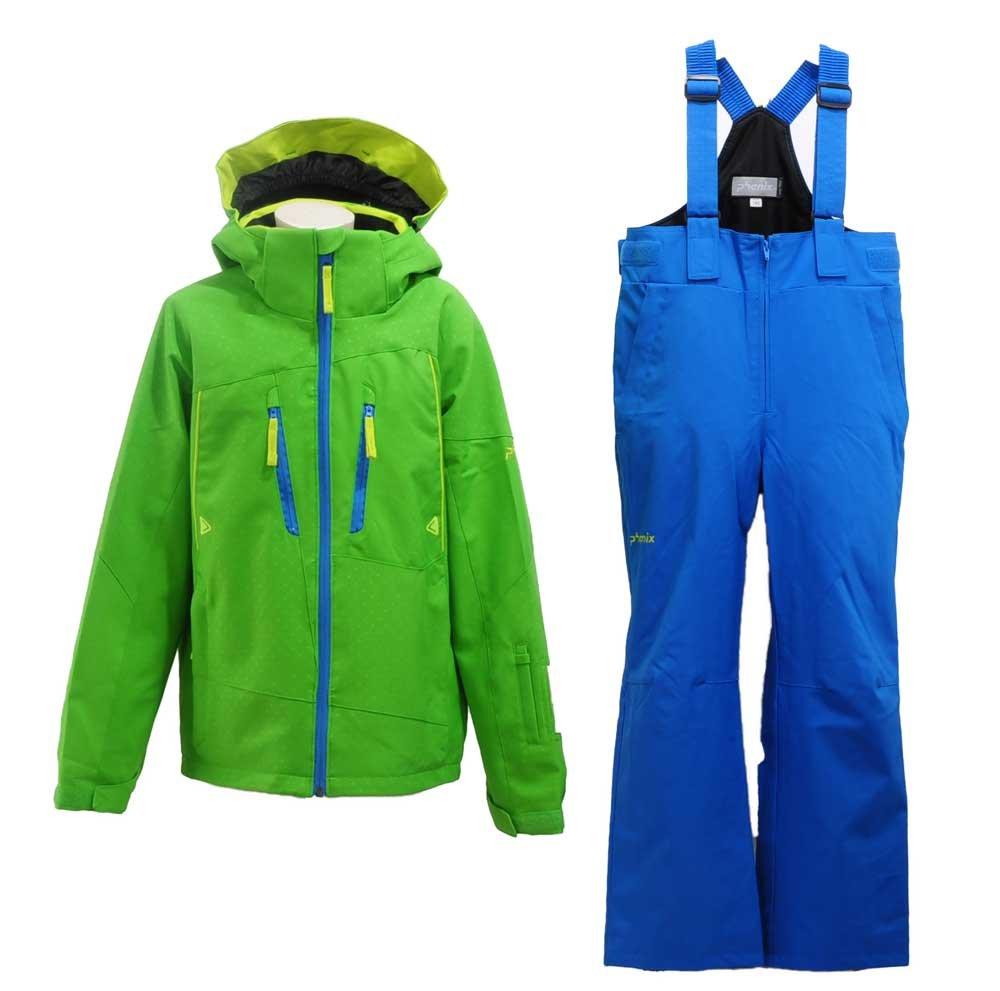 PHENIX(フェニックス)MUSH BOYS TWO-PIECE ジュニア ボーイズ スキーウェア PS7G22P83 B07757JGLW  イエロー×グリーン 140