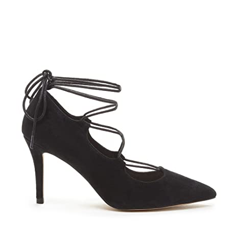 c5307b8b916 Amazon.com  Sole Society New Womens Madeline Black Suede Lace Up Pumps Size  7 M ASO QVC  Sports   Outdoors
