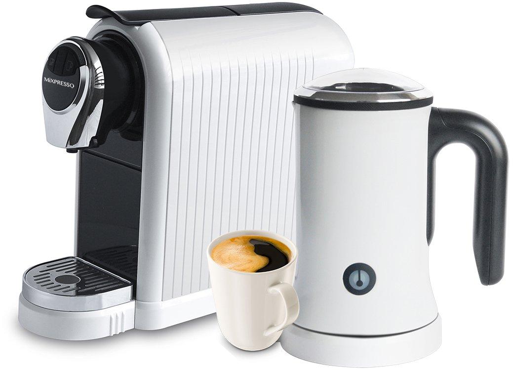 MiXPRESSO Latte Machine   Nespresso Compatible Capsules - White by Mixpresso