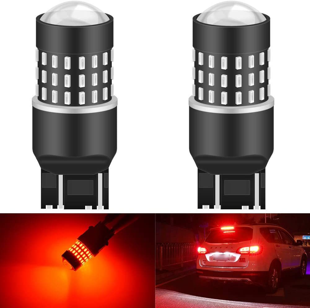 KaTur 7440 7443 7444NA 7441 7444 992 Led Light Bulb 3014 54 Chipsets 650 Lumens Replace for Turn Signal Back Up Reverse Brake Tail Stop Parking RV Lights,Amber Pack of 2