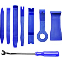 MICTUNING 8PCS Auto Trim Removal Tool Set for Car Audio Dash Door Panel Window Molding Fastener Remover Tool Kit (Blue)