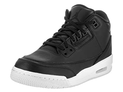 100% authentic 4f090 63c32 Jordan Nike Air 3 Retro Bg Boys Basketball Shoes (7Y, Black/Black/White)