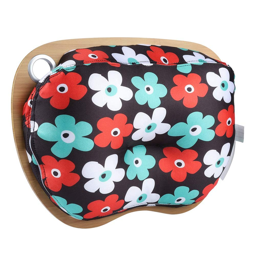 Riuty Laptop Stand, Laptop Stand -Cushion and Platform on Bed and Sofa All laptops (Multicolor Flower)