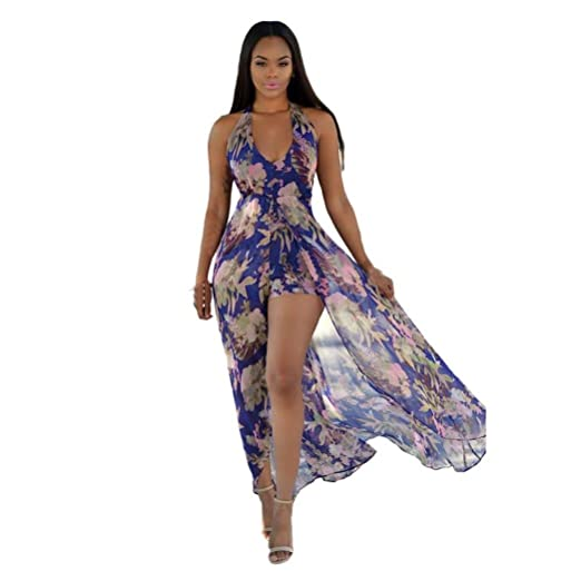 c1128152c2b Image Unavailable. Image not available for. Color  FAPIZI ♥ Women Dress ♥ Women  Summer Boho Long Maxi Evening Party Dress Beach Chiffon Dresses