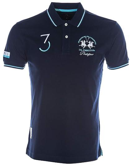 91957a16e La Martina Portifino Polo Shirt in Navy: Amazon.co.uk: Clothing
