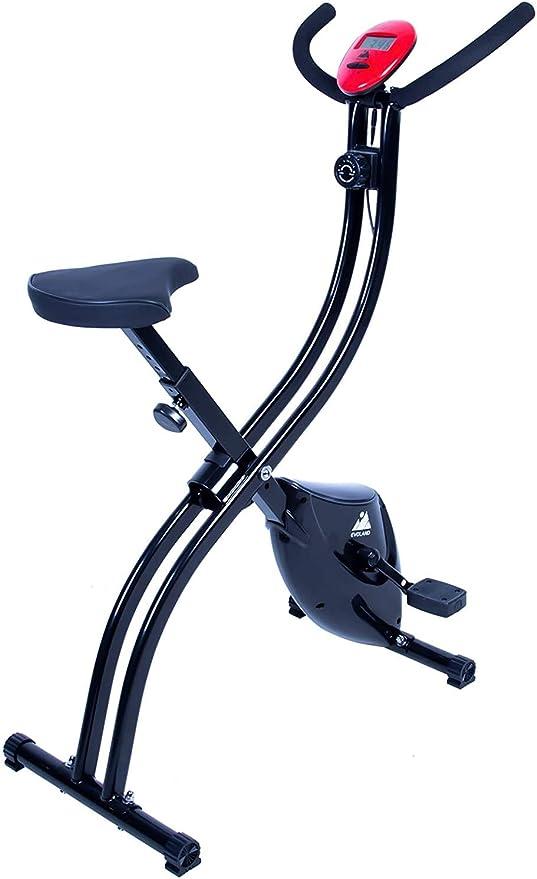 EVOLAND Bicicleta Estática Plegable, Bicicleta Estática de Fitness Multinivel de Resistencia Ma...
