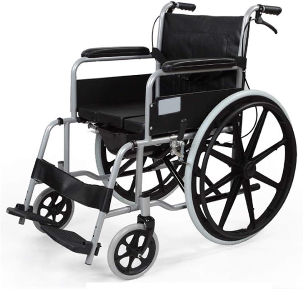 WLD Silla de ruedas plegable y liviana para conducción médica, silla de ruedas multipropósito equipada con silla de ruedas para un uso fácil, adecuada para personas mayores y discapacitadas f