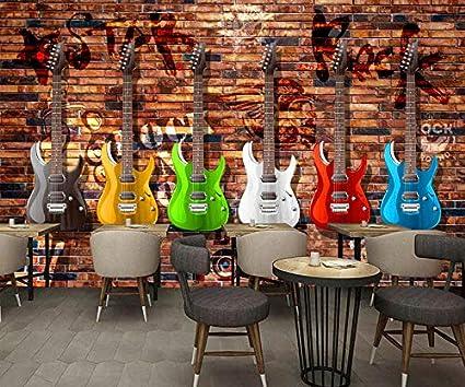 200X140CM, Mural de pared 3D Photo Wallpaper,Guitarra eléctrica ...