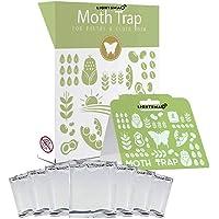 LIGHTSMAX Moth Traps - Keep Clothes Safe - Moth Repellent - Clothes Moth Traps - 6 Pheromone Traps - Child/Pet Safe…