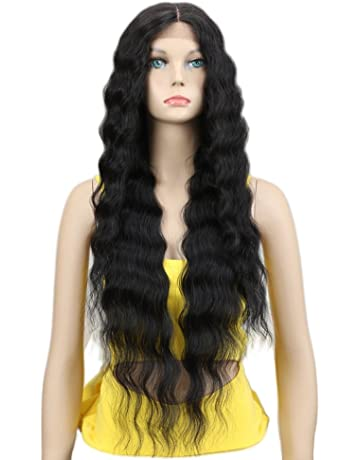 Joedir Lace Front Wigs 30   Long Wavy Synthetic Wigs For Black Women 130% 0f8f43c713