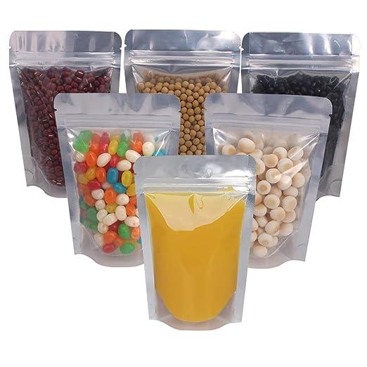 Amazon.com: Belinlen 100 bolsas reutilizables con cierre de ...